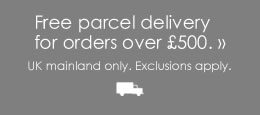Free Parcel Delivery UK Mainland on orders over £500.00