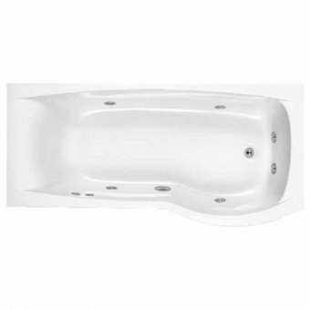 Carronite Delta 1700mm x 800mm Whirlpool Bath Right Handed