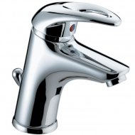 Java Basin Mixer with Eco Click and Pop up Waste