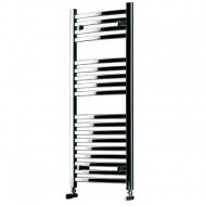 Curved Multi Rail Towel Warmer Chrome 450mm by 1100mm