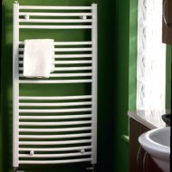 Boston Curved Towel Warmer White 688mm by 600mm