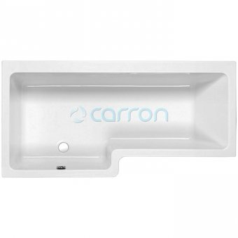 Quantum 1700mm x 700mm Shower Bath Left Handed in Carronite