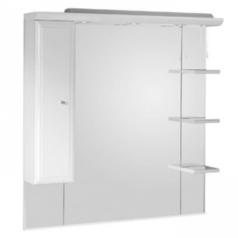 Roper Rhodes Valencia 1000mm Mirror with Shelves, Cupboard & Canopy CSC1000W