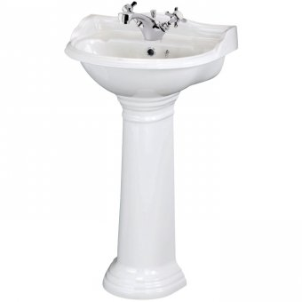 Premier Ryther 500mm Cloakroom Basin with Pedestal