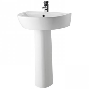 Premier Solace 610mm Basin with Pedestal