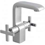 Pilgrim Mono Basin Mixer with Push Button Waste
