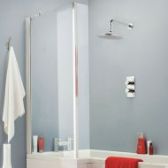 Quattro Square Shower Bath Screen