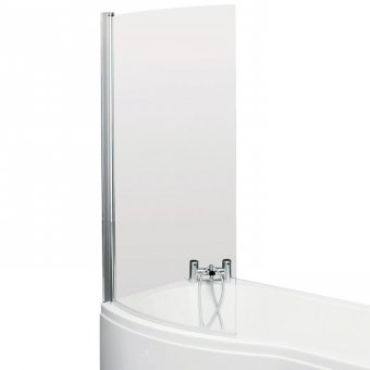Curved Bath Screen For B Shape Shower Bath