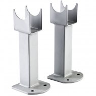 Premier Small Radiator Floor Mounting Feet High Gloss Silver