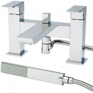 Art Bath Shower Mixer with Shower Kit and Wall Bracket