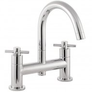 Kristal Deck Mount Bath Filler with Swivel Spout