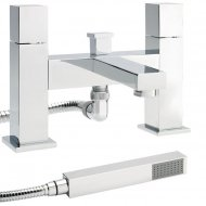 Kubix Bath Shower Mixer with Shower Kit & Wall Bracket
