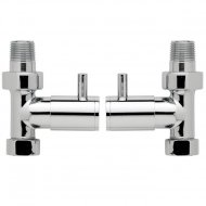 Straight Minimalist Radiator Valve Pack Pair