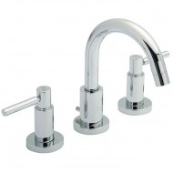 TEC Lever 3 Tap Hole Basin Mixer with Swivel Spout and Pop Up Waste