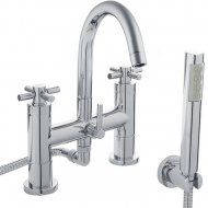TEC Crosshead Bath Shower Mixer with Swivel Spout, Shower Kit and Wall Bracket