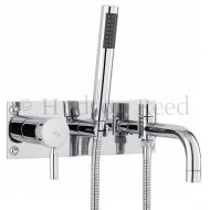 TEC Single Lever Wall Mounted Bath Shower Mixer with Shower Kit