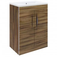 Hudson Reed Memoir Walnut 600mm 2 Door Floor-standing Unit- CAB194