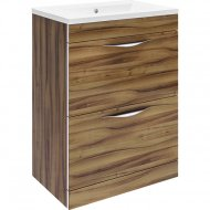 Hudson Reed Memoir Gloss Walnut 600mm 2 Drawer Floor-standing Unit – CAB172