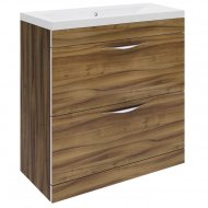 Hudson Reed Memoir Gloss Walnut 800mm 2 Drawer Floor-standing Unit – CAB176