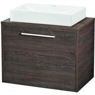 Hudson Reed Horizon Mid Sawn Oak 600mm 1 Drawer Cabinet and Worktop – FHZ010