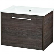 Hudson Reed - Horizon 600mm 1 Drawer Basin and Cabinet - Mid Sawn Oak - FHZ006