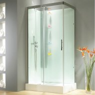 Kinedo Horizon 1100mm by 800mm Corner Shower Cubicle with Sliding Door CA119A12