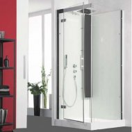 Kinedo Horizon 1100mm by 800mm Corner Shower Cubicle with Pivot Door CA139A12