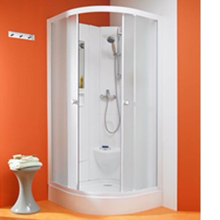 Kinedo Kineprime 900mm by 900mm Corner Quad Shower Cubicle with ...