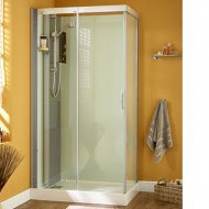 Kinedo Moonlight 1100mm by 900mm Corner Shower Cubicle with Slider Door CA119A12GB