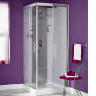 Kinedo Moonlight 800mm by 800mm Corner Shower Cubicle with Slider Door CA116A12GB