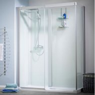 Kinedo Kinemagic Design 1700mm by 800mm Corner Shower Cubicle without Door K5-1708-AHS-TN3-XD9