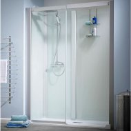 Kinedo Kinemagic Design 1700mm by 800mm Recess Shower Cubicle without Door K5-1707-NHS-TN3-XDY