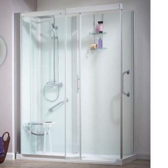 Kinedo Kinemagic Serenity 1600mm by 800mm Corner Shower Cubicle with Door K5-1608-AHC-TN3-GSD