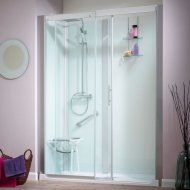 Kinedo Kinemagic Serenity 1600mm by 700mm Recess Shower Cubicle with Door K5-1607-NHC-TN3-GS2