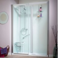Kinedo Kinemagic Serenity 1600mm by 700mm Recess Shower Cubicle K5-1607-NHS-TN3-GSM