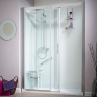 Kinedo Kinemagic Serenity 1400mm by 800mm Recess Shower Cubicle with Door K5-1408-NHC-TN3-GS4