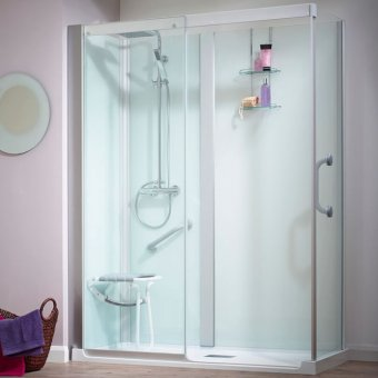 Kinedo Kinemagic Serenity 1400mm by 800mm Corner Shower Cubicle K5-1408-AHS-TN3-GS1