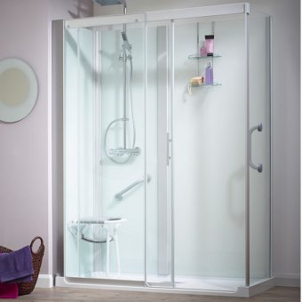 Kinedo Kinemagic Serenity 1700mm by 800mm Corner Shower Cubicle with Door K5-1708-AHC-TN3-GSB