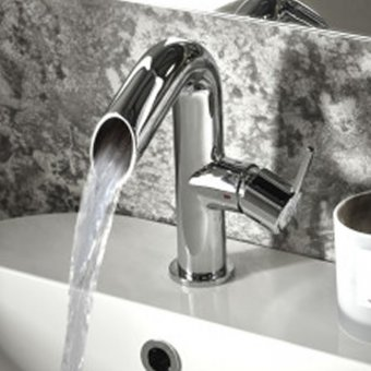 Roper Rhodes Scope Open Spout Basin Mixer with Click Waste T281102