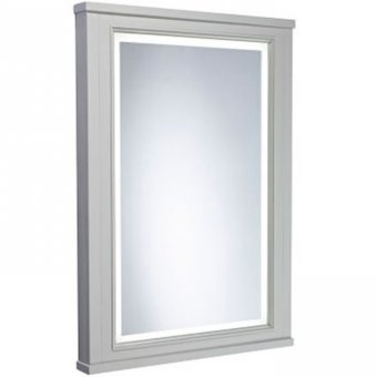 Tavistock Vitoria 600mm Illuminated Mirror in Pebble Grey ILL6MIR/VT55MLPG