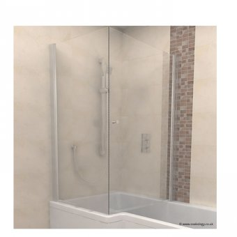 Carron Quantum Shower Screen with Towel Rail – 69.0141