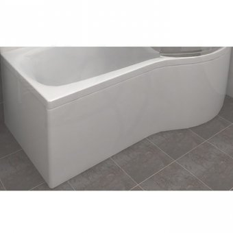 Carron Sigma Shower Bath Curved Front Panel Carronite 1800 x 540mm in White – 23.1721 (Q4-02515)