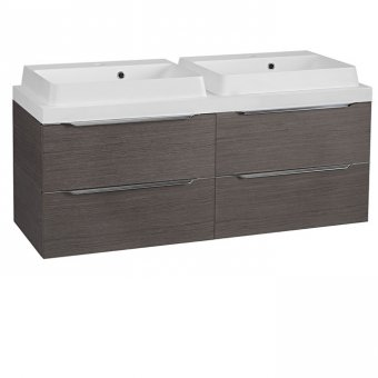 Tavistock Array 1200mm Twin Double Drawer Unit (Double Basin) in Dark Java – AB550W(x2)_AT1200W_ATD600DJ(x2)_ALD600DJ(x2)
