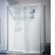 Kinedo Kinemagic Design 1200mm by 700mm Corner Shower Cubicle with Door - 553K51207AHCTN3XD1