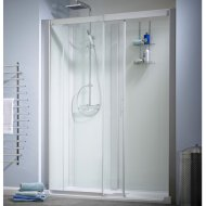 Kinedo Kinemagic Design 1200mm by 700mm Recess Shower Cubicle with Door - 553K51207NHCTN3XDO