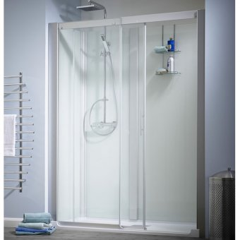 Kinedo Kinemagic Design 1200mm by 800mm Recess Shower Cubicle with Door - 553K51208NHCTN3XDM