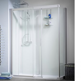 Kinedo Kinemagic Design 1600mm by 700mm Corner Shower Cubicle with Door - 553K51607AHCTN3XDT