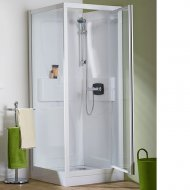 Kinedo Kineprime Glass 800mm by 800mm Corner Shower Cubicle with Pivot Door - 553CA721TTN (CA721TTN)
