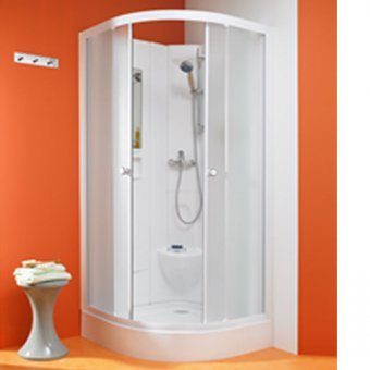 Kinedo Kineprime Glass 800mm by 800mm Quadrant Shower Cubicle with Sliding Door - 553CA761TTN (CA761TTN)