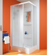 Kinedo Kineprime Glass 900mm by 900mm Corner Shower Cubicle with Sliding Door - 553CA702TTN (CA702TTN)